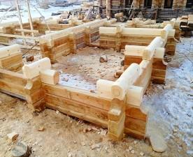 Новые срубы домов